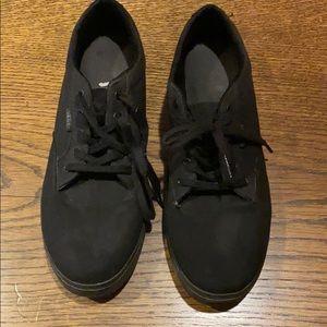 Black lace up Vans